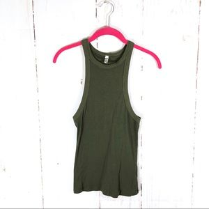 Intimately Free People Olive High Neck Tank
